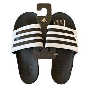 Adidas Black White Adilette Comfort Slides Unisex Sandals